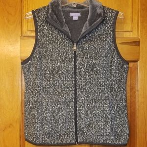 Laura Scott Reversible Fleece Vest